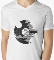 Star Wars - Death Star Vinyl Men's V-Neck T-Shirt