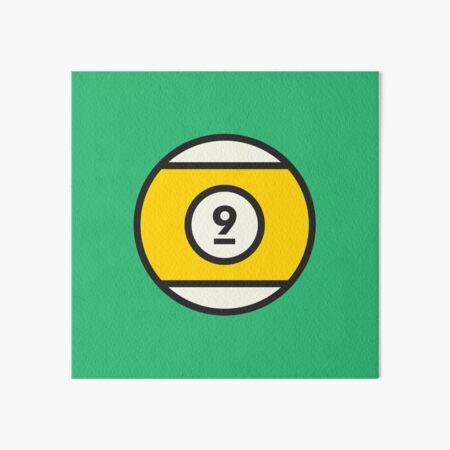 Yellow #9 Pool Ball Art Board Print