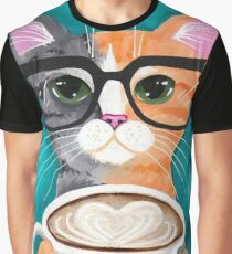 Morning Cat Graphic T-Shirt