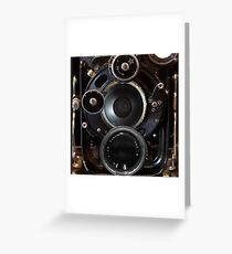 Vintage Camera Photography Lenses Greeting Card
