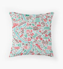Rome City Map Throw Pillow