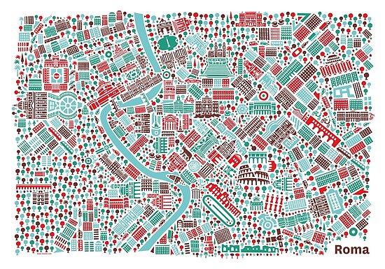 Rome City Map\