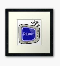 Commodore 64 Monitor Screen TV Framed Print