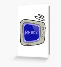 Commodore 64 Monitor Screen TV Greeting Card