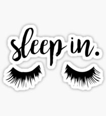 Sleep In Eyelash Print Sticker