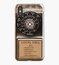 phone antique rotary dial pay telephone booth iPhone Case/Skin