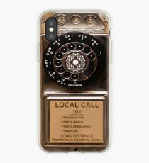 phone antique rotary dial pay telephone booth iPhone Case