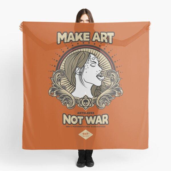 Make Art, Not War Scarf