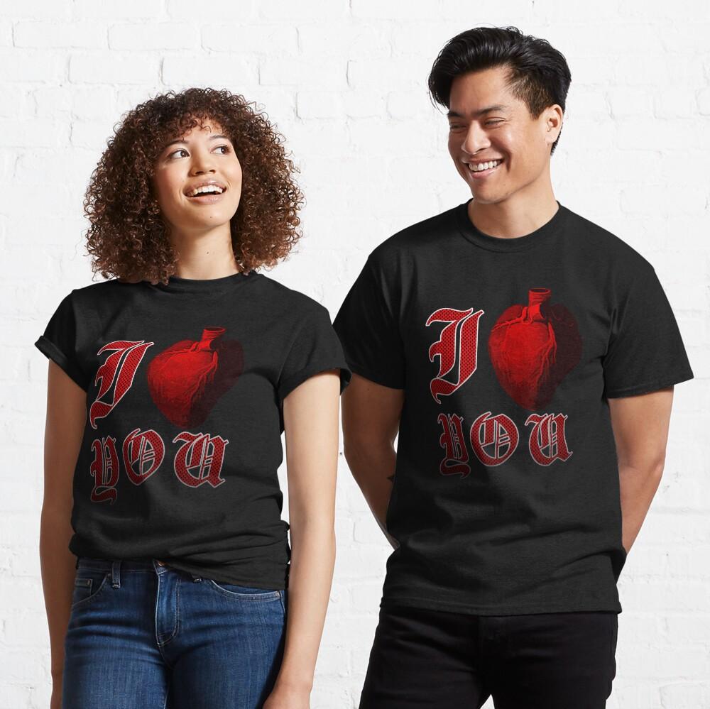 I Love You - Grunge Human Heart  Classic T-Shirt