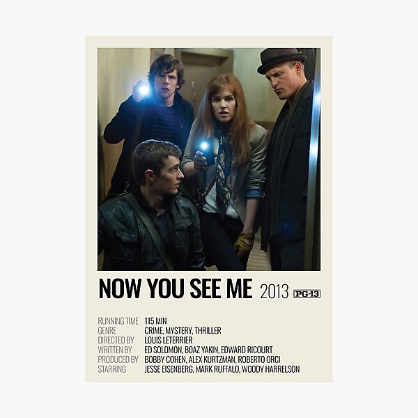 Now You See Me (2013) movie poster Photographic Print