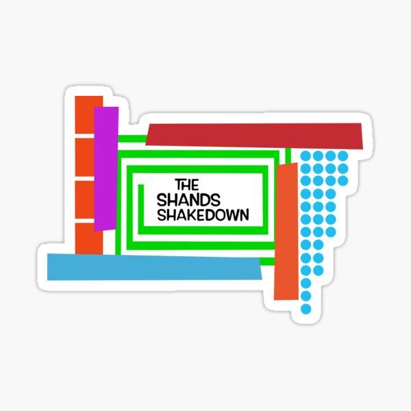 The Shands Shakedown Retro Style Sticker