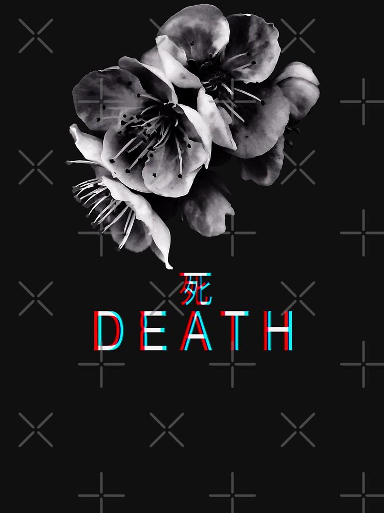 Cherry Blossom - Japanese Grunge Death Art by RabbitLair