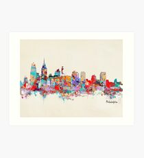 Philadelphia-Skyline Kunstdruck