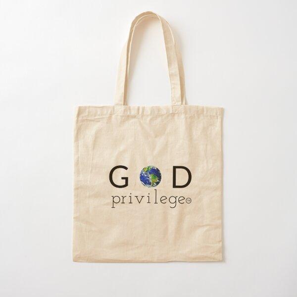GOD PRIVILEGE Cotton Tote Bag