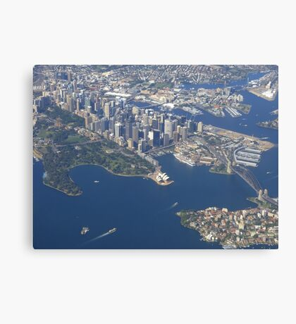 I picked a great day to fly into Sydney! Canvas Print