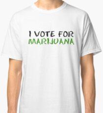 Marijuana Vote Smoke Weed T-Shirts Classic T-Shirt
