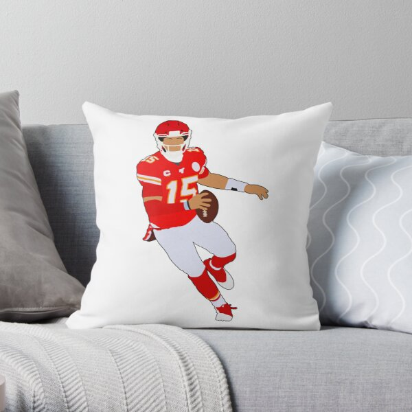 Mahomes KC 15 Throw Pillow