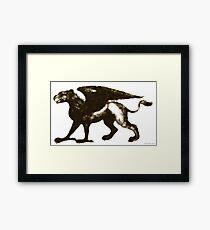 Gryphon Mythical Creature Illustration Framed Print