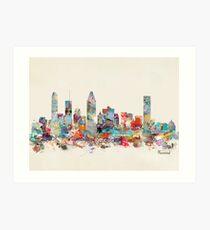 Montreal city skyline Art Print