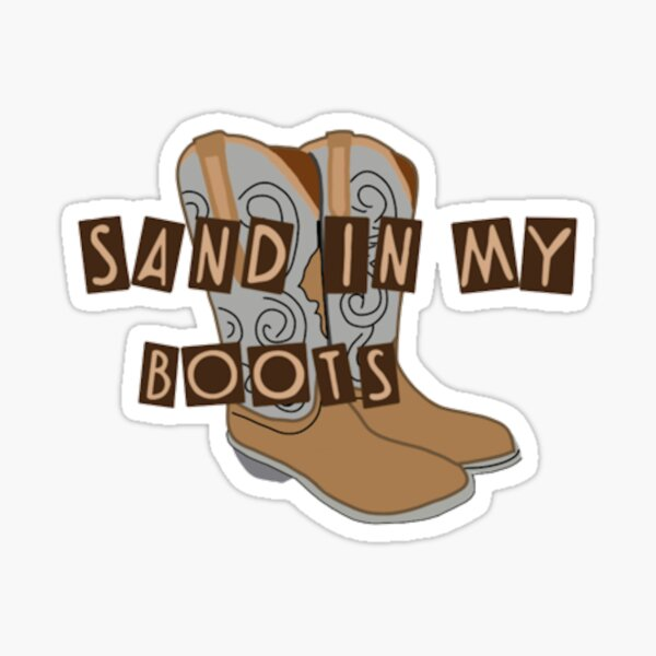 morgan wallen , sand in my boots Sticker
