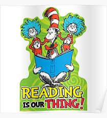 Dr Seuss Reading Quote Poster