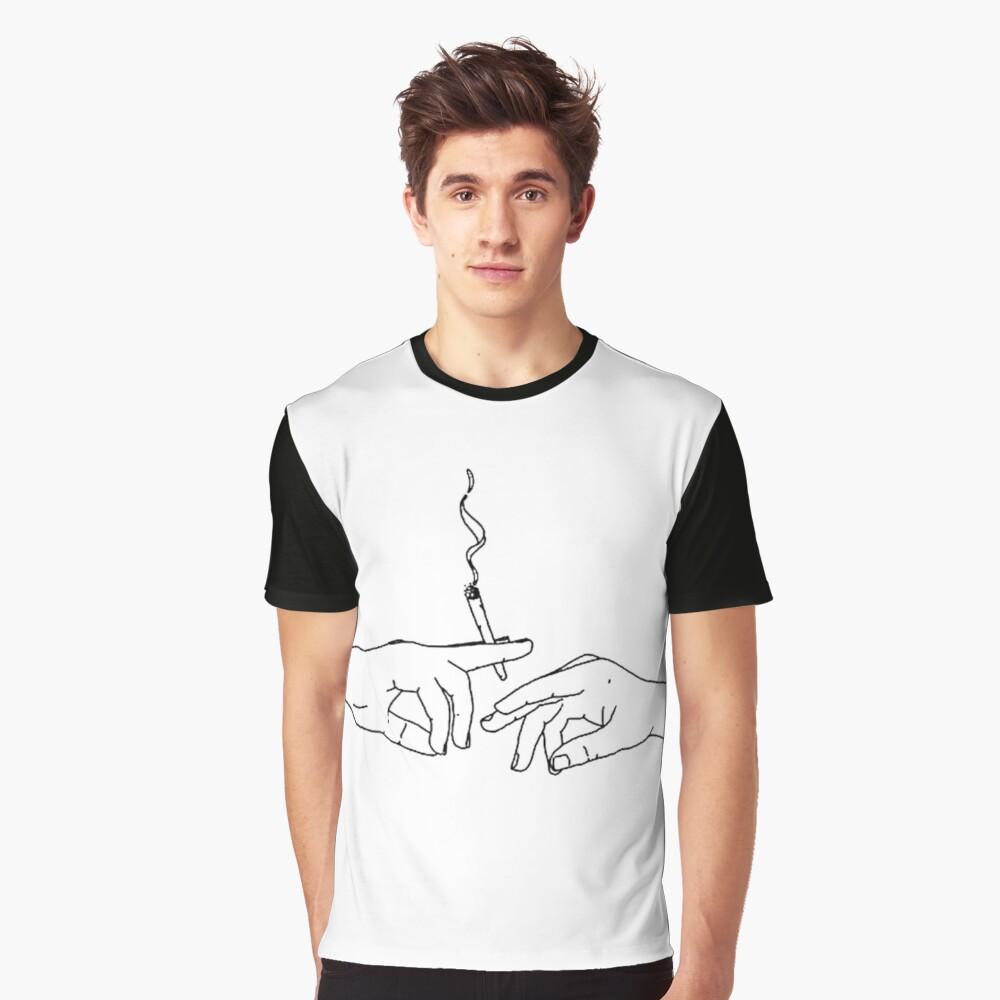 Smoke graphic Graphic T-Shirt