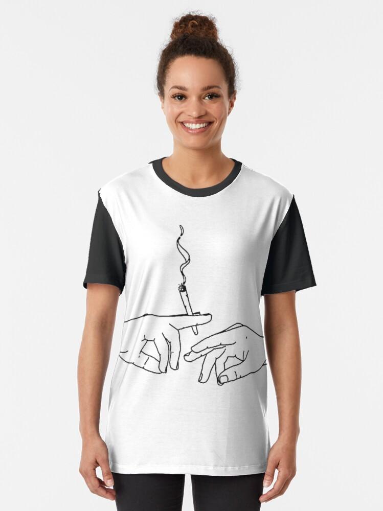 Alternate view of Smoke graphic Graphic T-Shirt