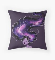 Purple Galaxy Mermaid Throw Pillow