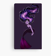 Purple Galaxy Mermaid Canvas Print