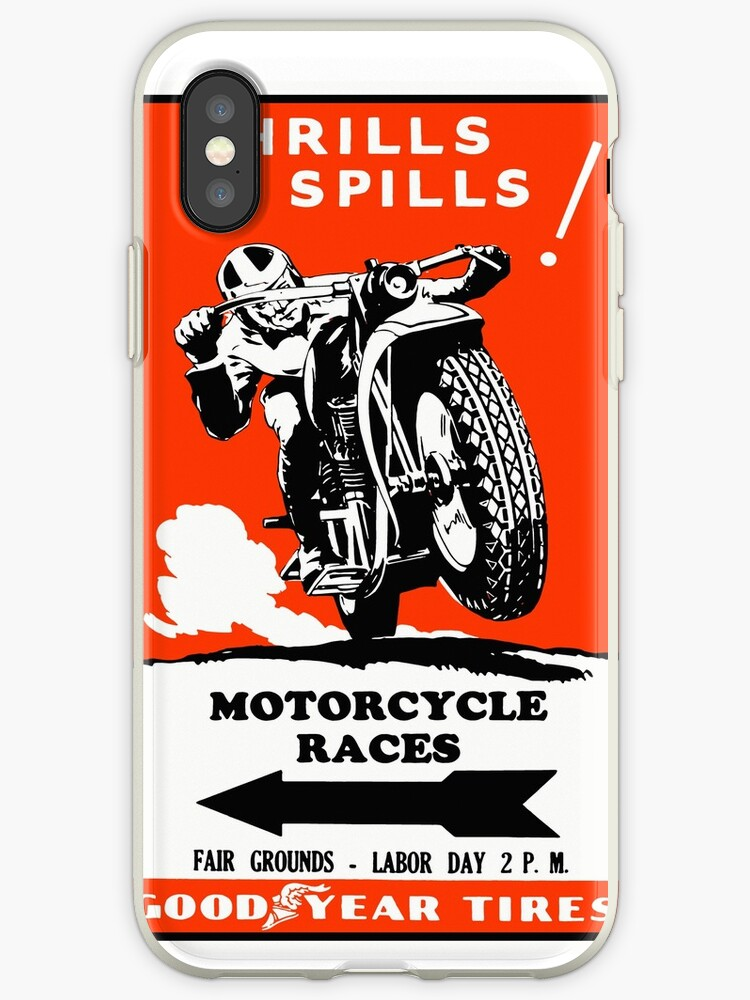 Motorcycle Races Poster by OldDawg