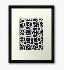 Graphite Framed Print