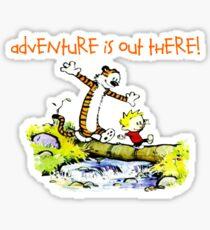 Calvin and Hobbes' Wonderful Adventure Sticker