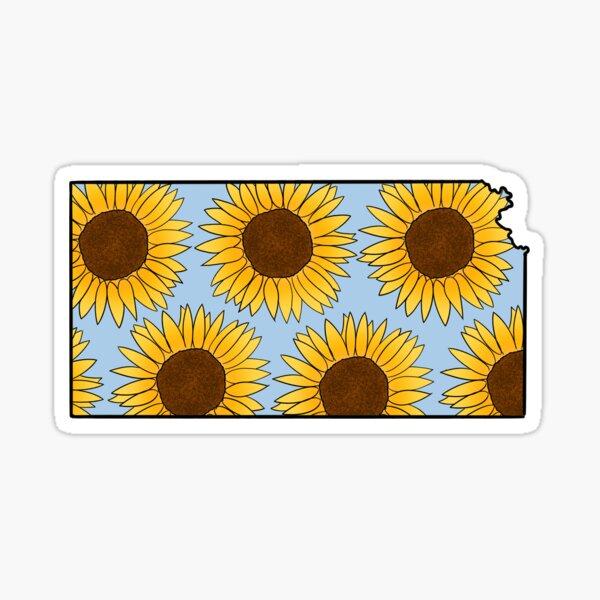 Kansas Sunflowers Blue Sticker