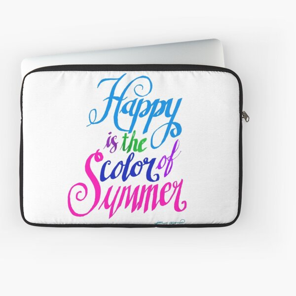 Happy is the Color of Summer Colorful by Jan Marvin Laptop Sleeve