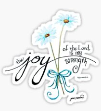 The Joy of the Lord is my Strength outline by Jan Marvin Sticker