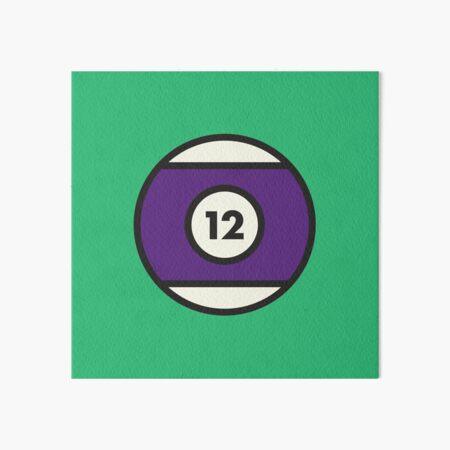 Purple #12 Pool Ball Art Board Print