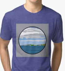 Montague Island viewed from Narooma, NSW Tri-blend T-Shirt