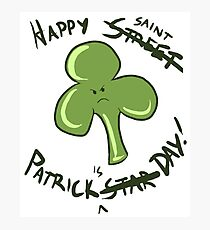 Happy St. Street Saint Patrick's Patrick Star Day Photographic Print