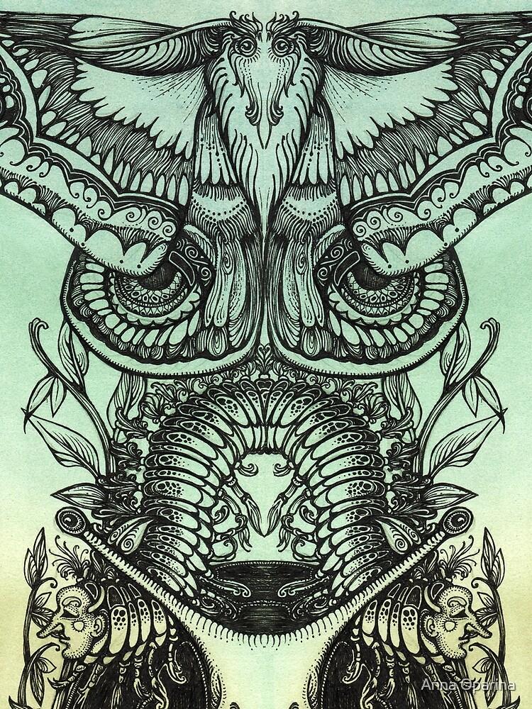 Green Moths by Oparina