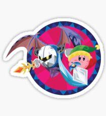 Kirby and Metaknight Sticker