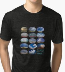 """I've got my head in the clouds..."" Cloud flow chart Tri-blend T-Shirt"