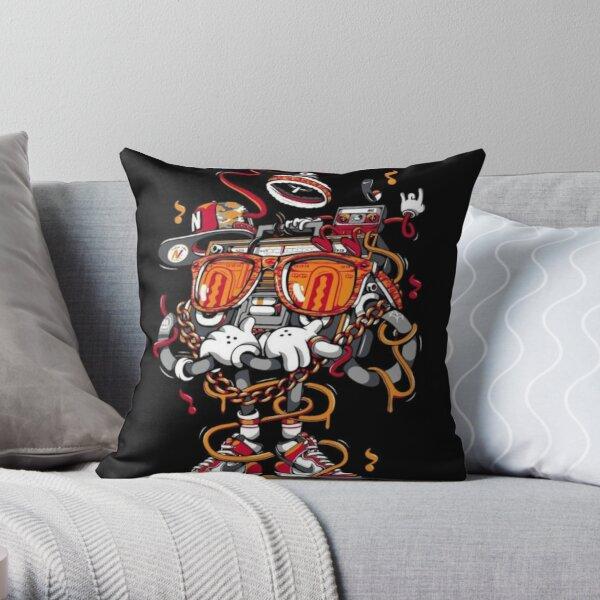 Boombox Art  Throw Pillow
