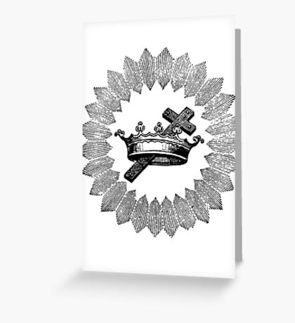 Cross and Crown Greeting Card