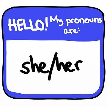 Pronouns Series: she/her by andromedakid
