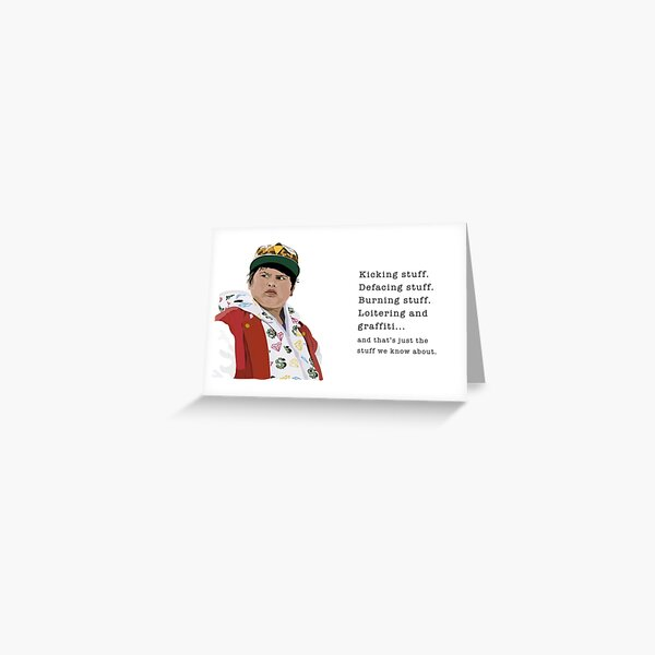 Ricky Baker, Hunt for the Wilderpeople, Kicking Stuff Greeting Card
