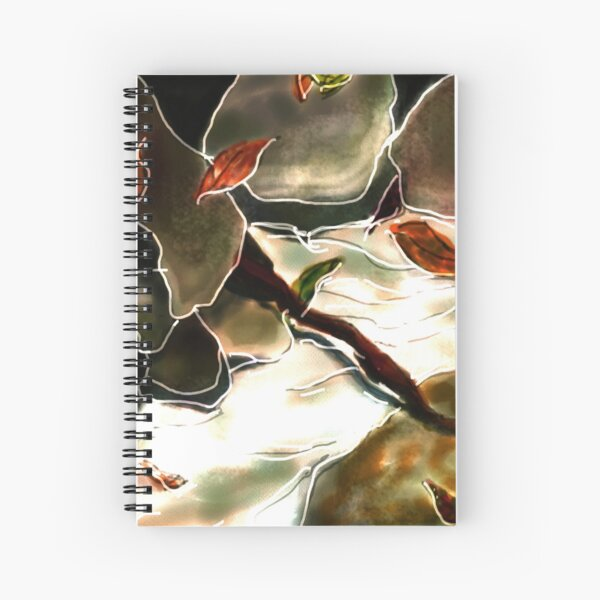 Abstract rocks and leaves Spiral Notebook