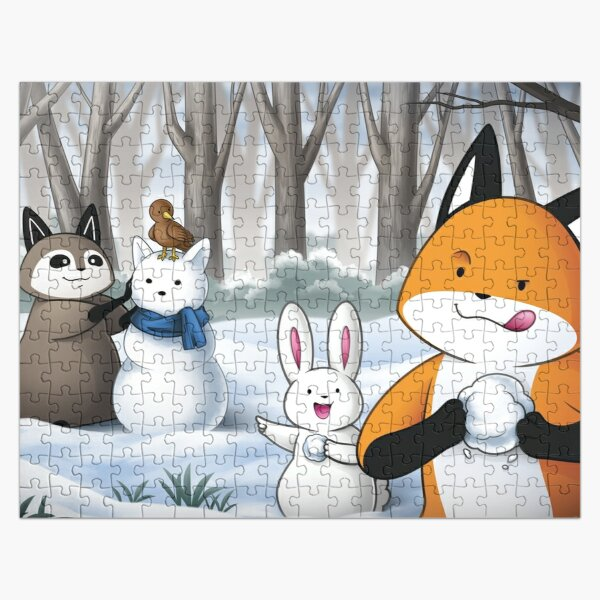Fox and Friends - Winter Fun Jigsaw Puzzle