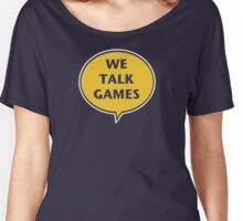 We Talk Games Official Logo (punched) Women's Relaxed Fit T-Shirt