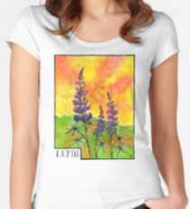 Lupin Flowers Women's Fitted Scoop T-Shirt