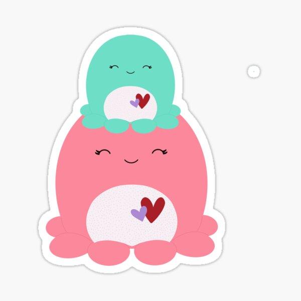 Olina and Abby Valentines Octopus Sticker
